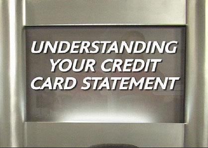 Videos about credit card statements