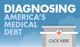 Diagnosing America's Medical Debt infographic banner