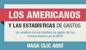 Los Americanos y las estadísticas de gastos banner de infografía