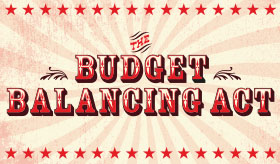 Budget Balancing Act infographic banner