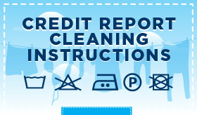Credit Report Cleaning Instructions infographic banner