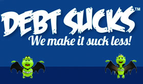 Debt Sucks infographic banner
