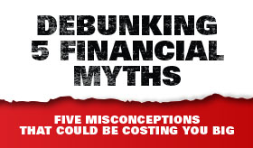 Debunking 5 Financial Myths infographic banner