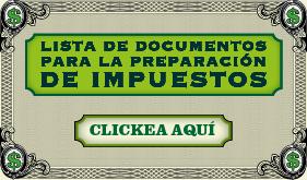 Lista de documentos para la preparación de impuestos banner de infografía