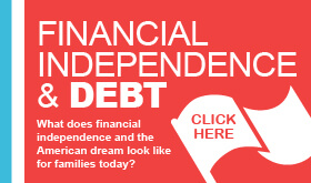 Financial Independence and Debt infographic banner
