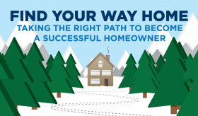 Find Your Way Home infographic banner