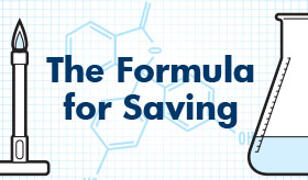 Formula for Saving infographic banner