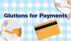 Gluttons for Payments infographic banner