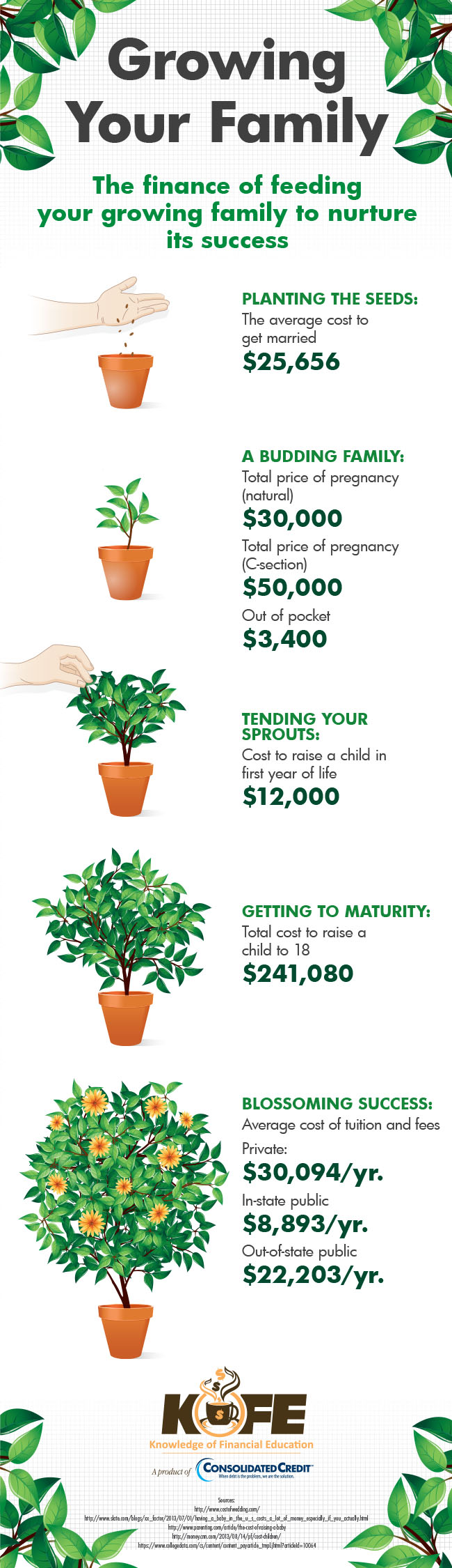 Growing Your Family infographic