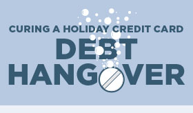 Curing a Holiday Credit Crad Debt Hangover infographic banner