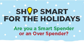 Shop Smart for the Holidays infographic baner