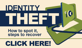 Identity Theft infographic banner