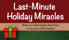 Last-minute Holiday Miracles infographic banner