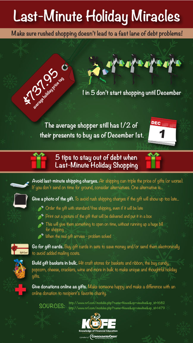 Last-minute Holiday Miracles infographic