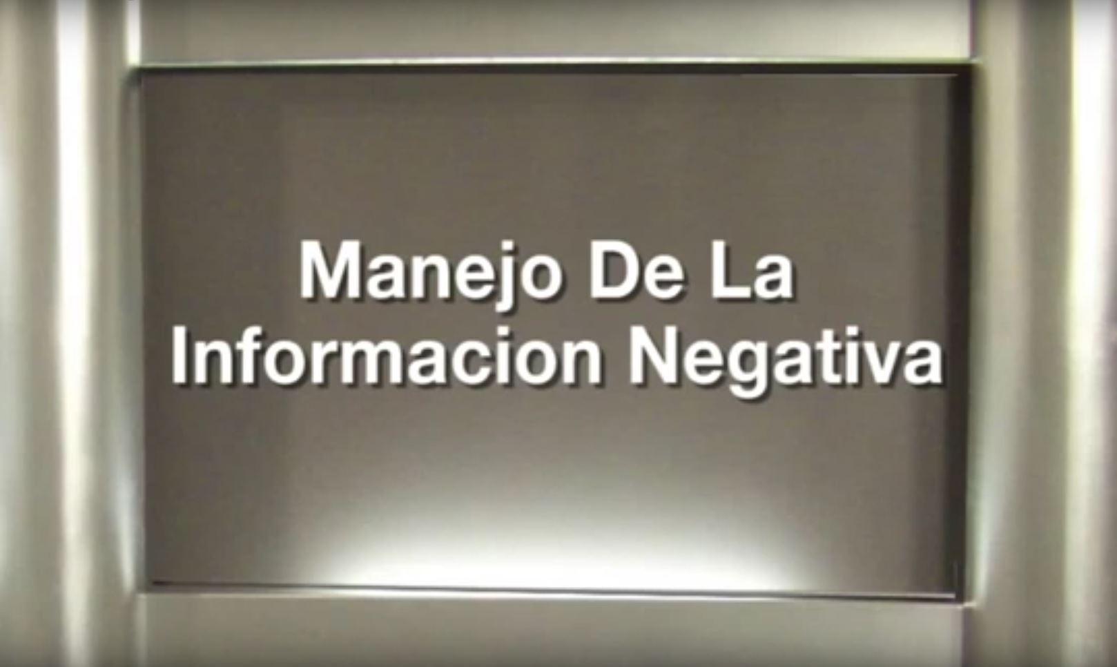 Manejo de informacion negativa