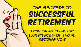 Secrets to a Successful Retirement infographic banner