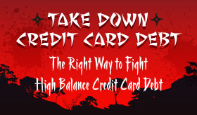 Take Down Credit Card Debt infographic banner