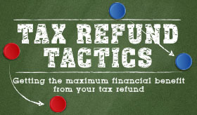 Tax Refund Tactics infographic banner