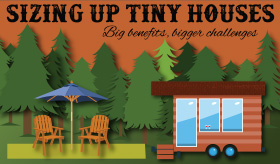 Sizing Up Tiny Houses infographic banner