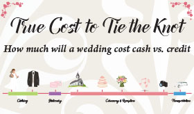 True Cost to Tie the Knot infographic banner