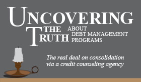 Uncovering the Truth about Debt Management Programs infographic banner