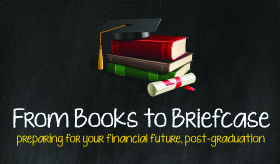 From Books to briefcase infographic banner