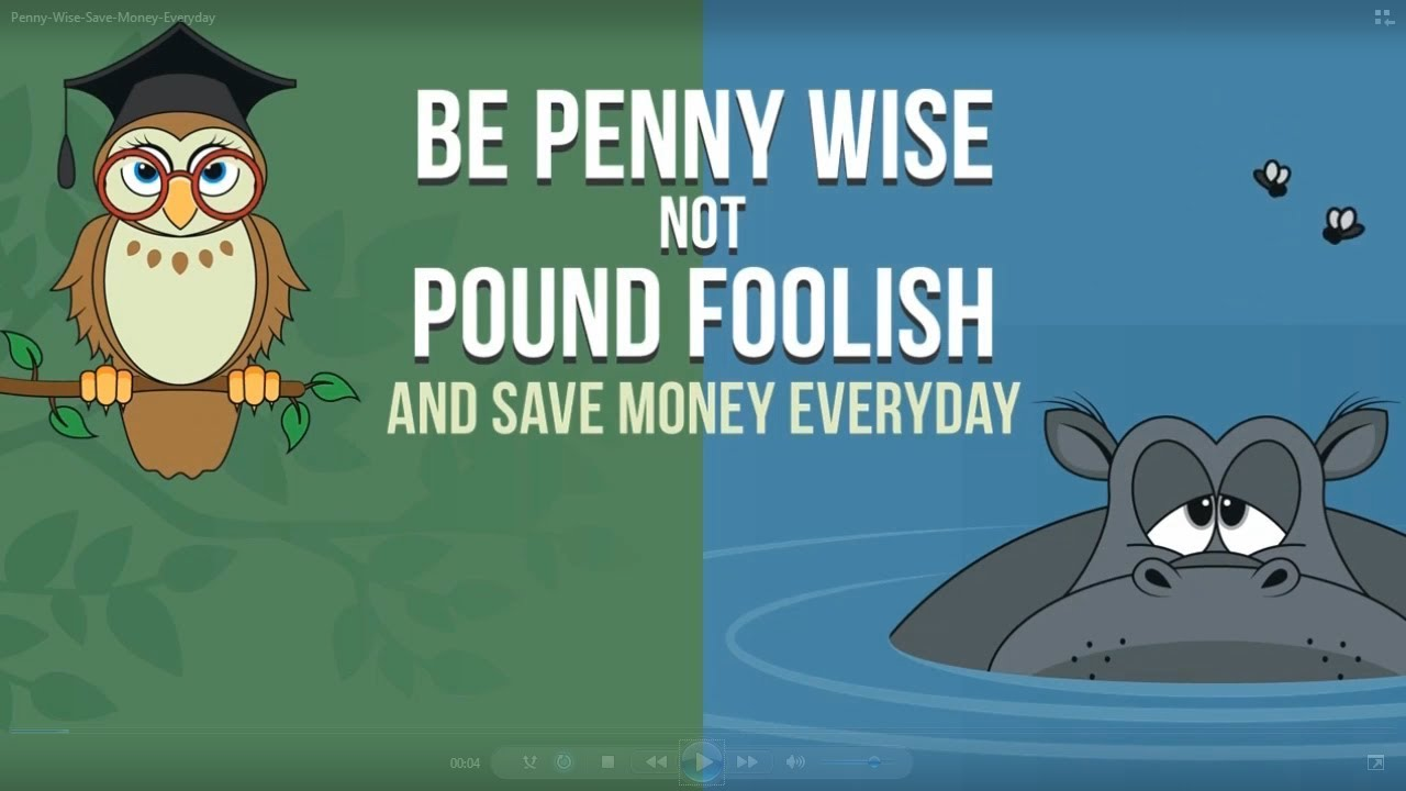 title card: Penny Wise Save Money Everyday
