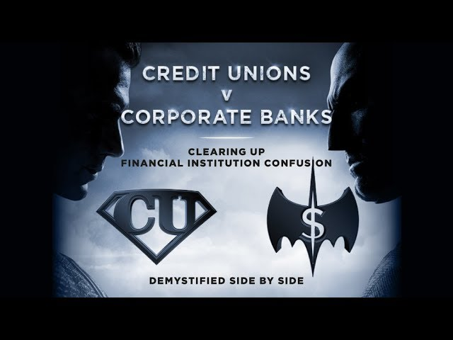title card: credit unions vs banks