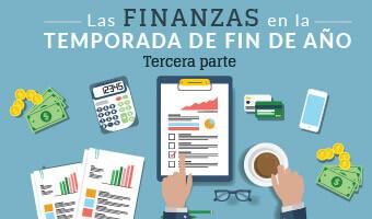 Las finanzas en la temporada de fin de año 3 banner de infografía