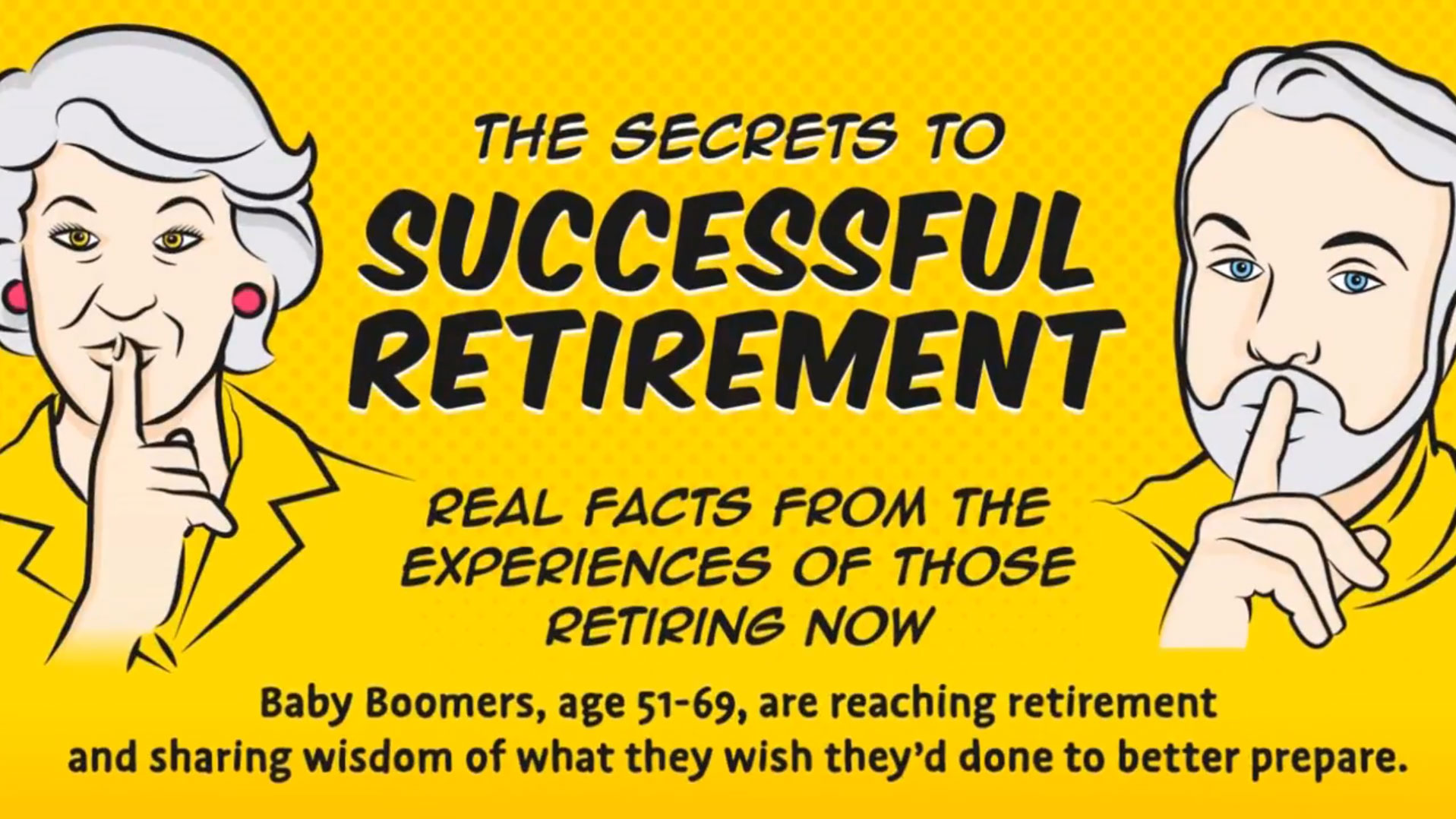 title card: 8 Secrets to Successful Retirement
