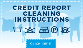 Credit Report Cleaning Instructions