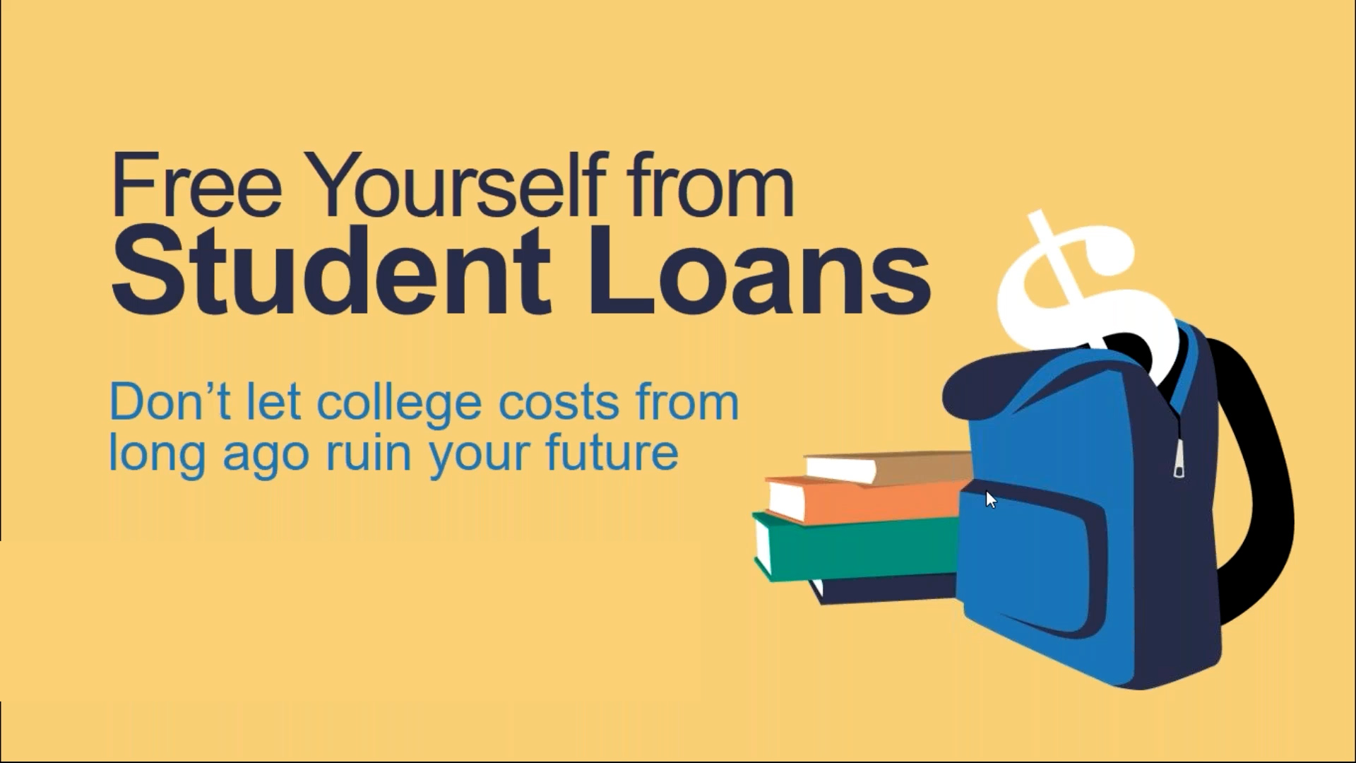 Free Yourself from Student Loans Debt. Don't let college costs from long ago ruin your future.