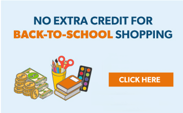 No Extra Credit for Back-to-School Shopping